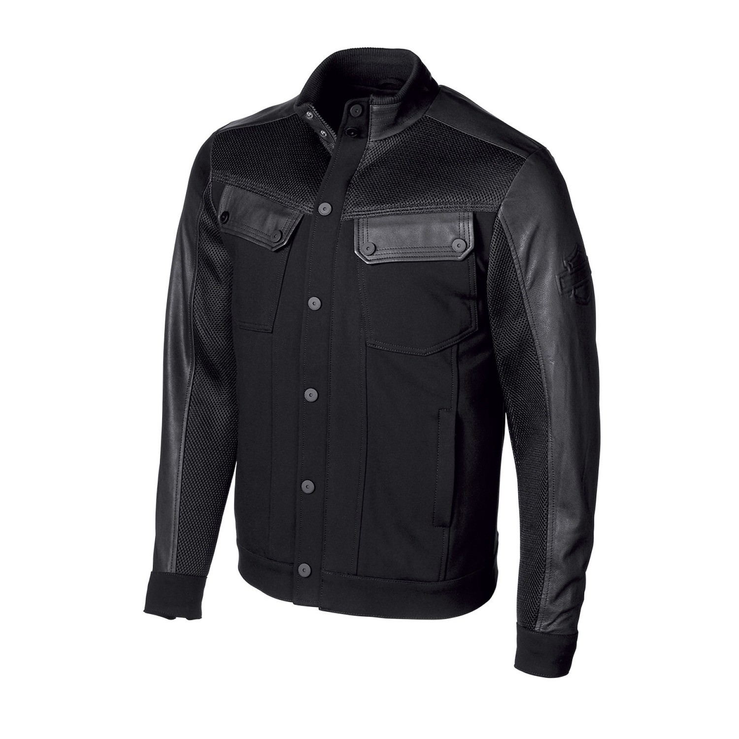 Jacket Men H-D® Moto Textile Mixed Media Slim Fit Casual