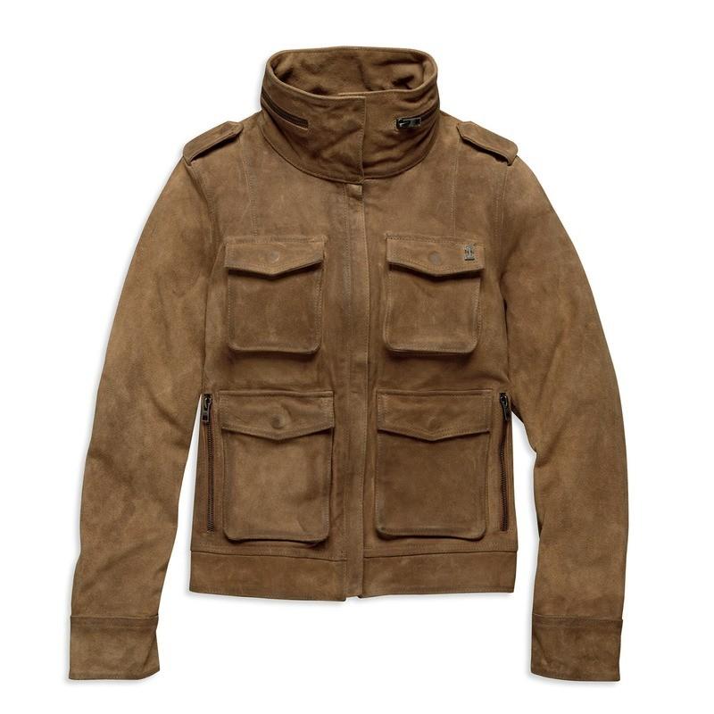 Black Label Suede Utility Jacket Women
