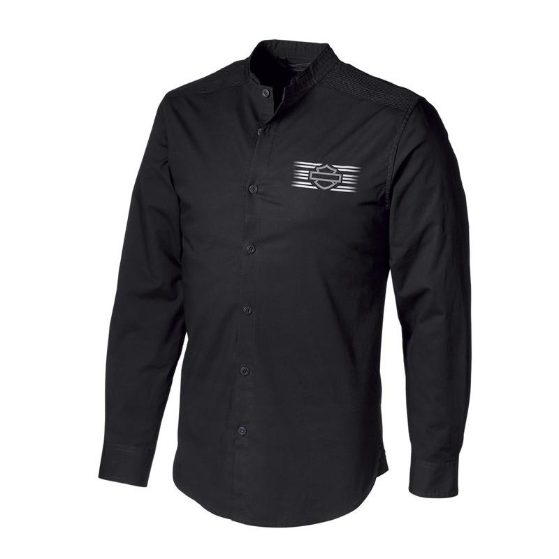 H-D® Moto Multi-Stitch Yoke Stretch Slim Fit Shirt Men
