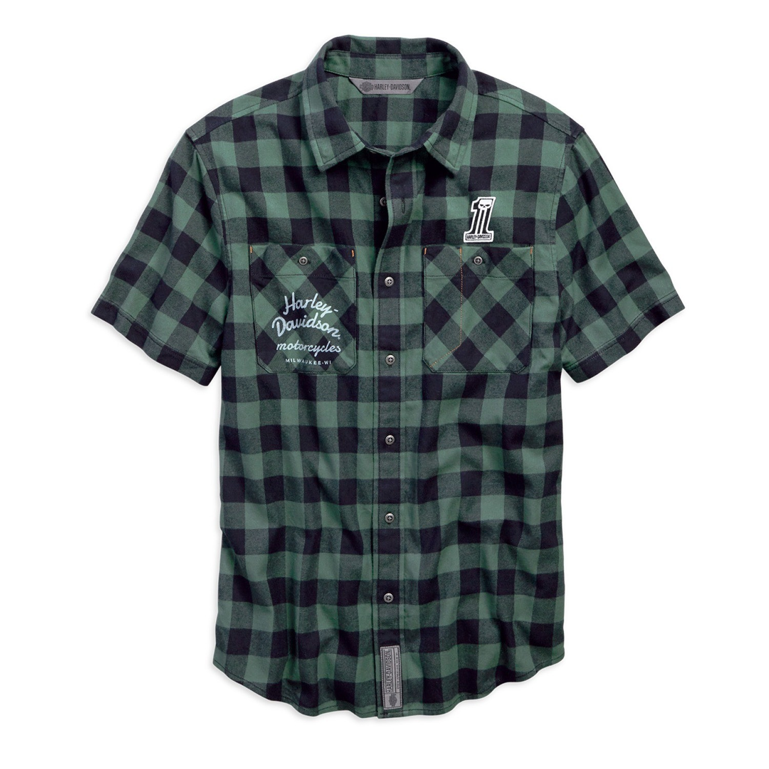 Garage Patch Plaid Slim Fit Shirt Men