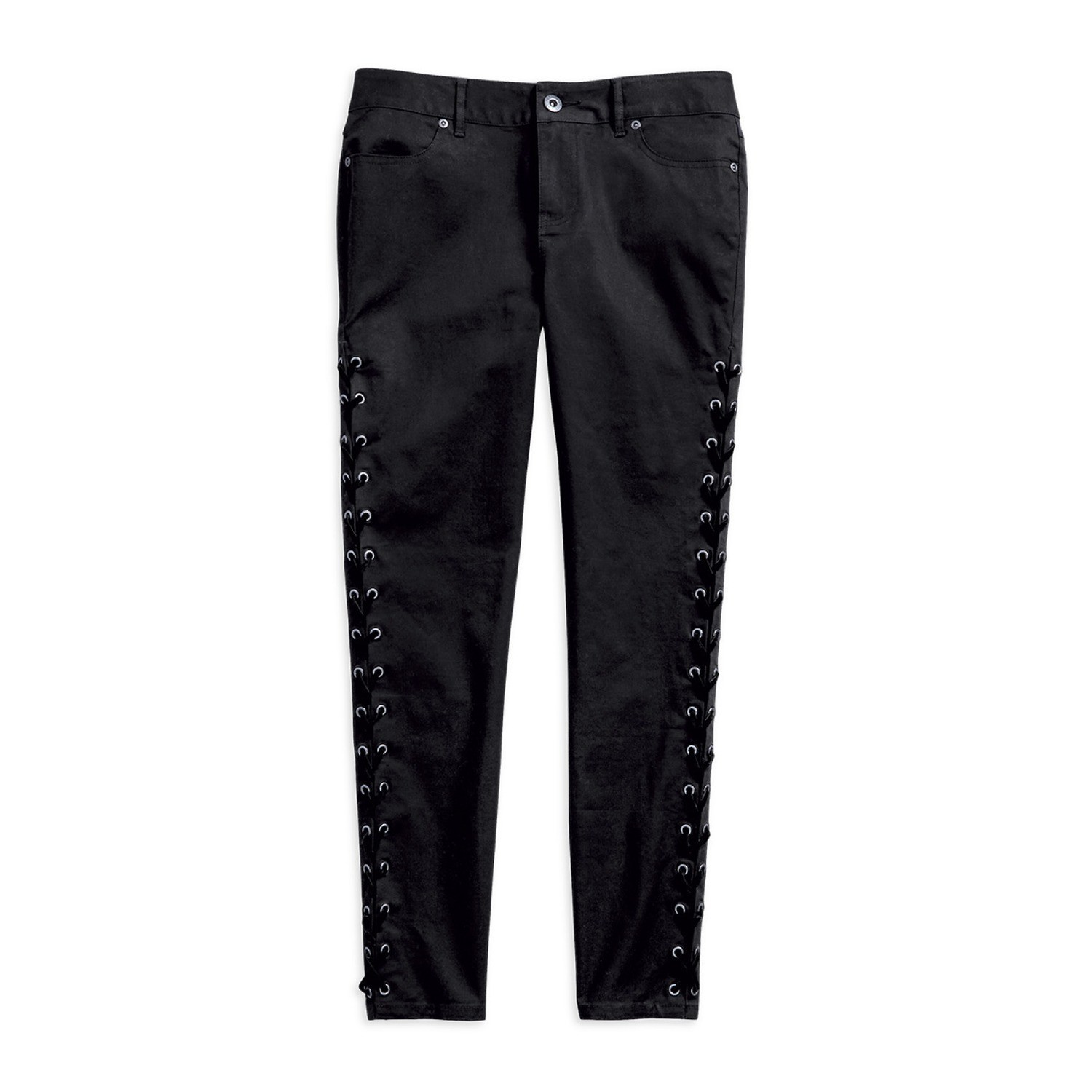 Side Laced Stretch Skinny Pant Women