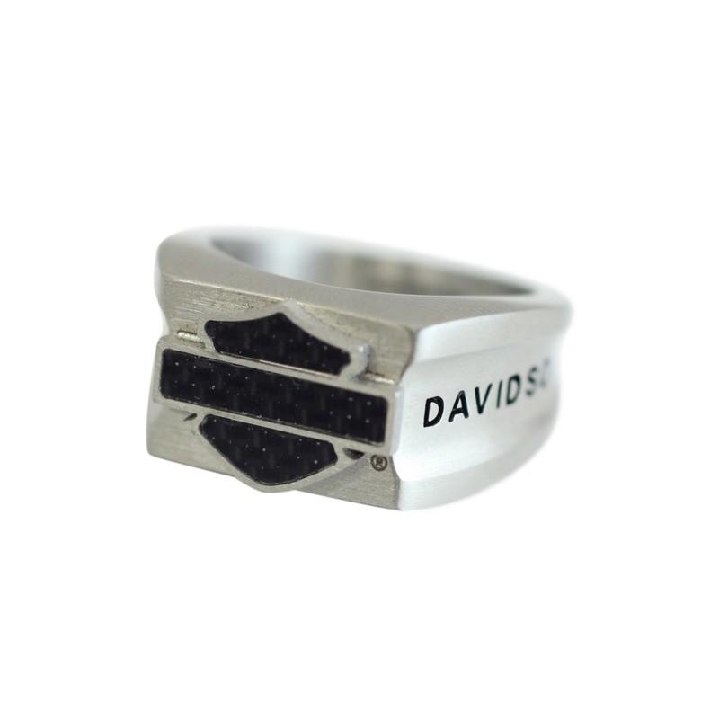H-D Steel & Carbon Fiber B & S Ring Men