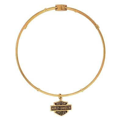 Bracelet Women H-D Gold B&S Dangle Charm Bangle