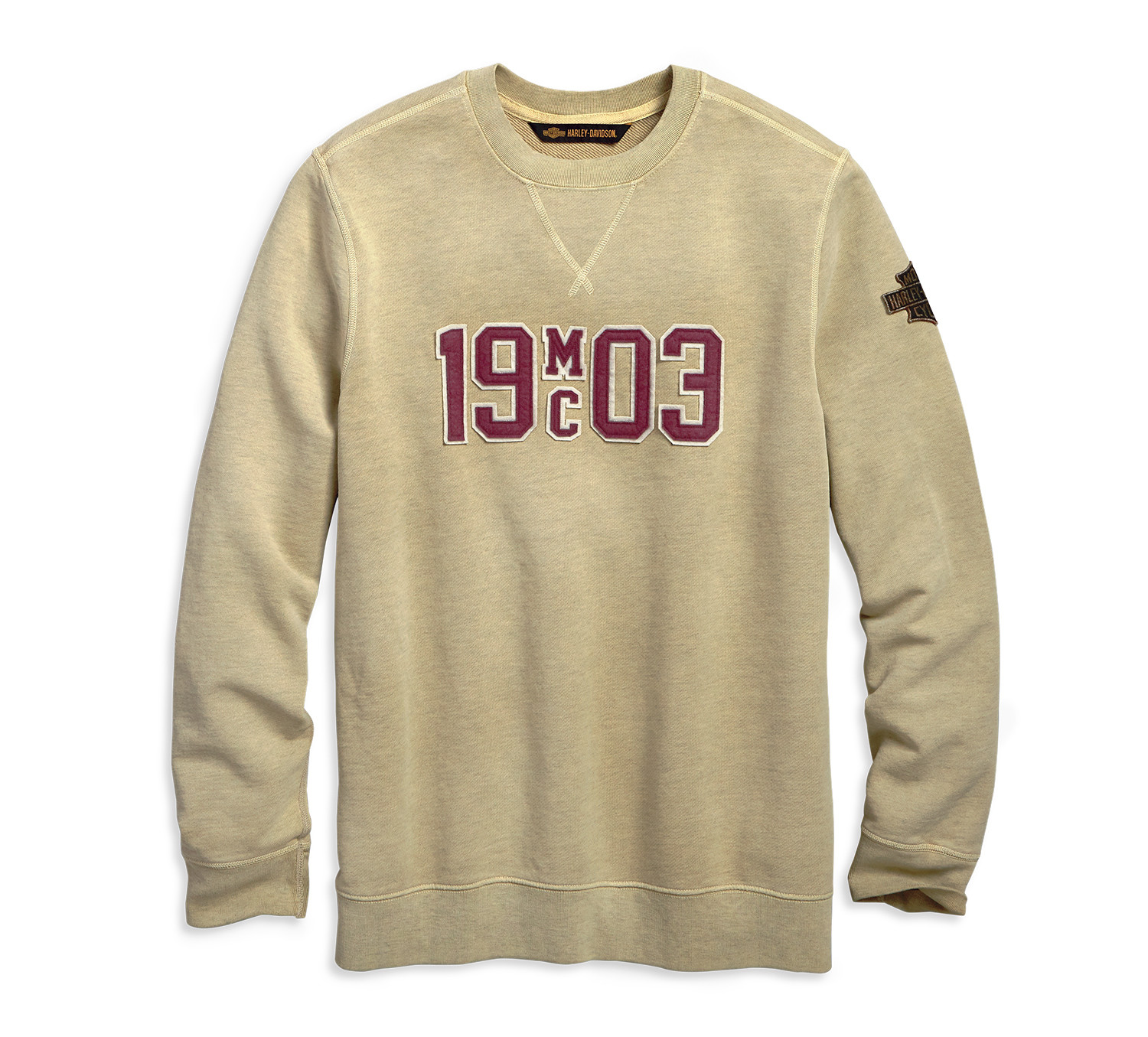Sweatshirt Men 1903 Double Layer Felt Sim Fit