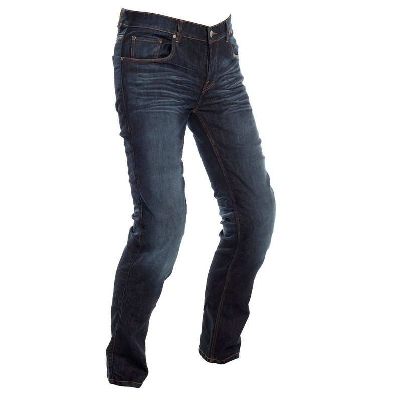 Classic Washed Navy Blue Riding Jeans Men - Regular