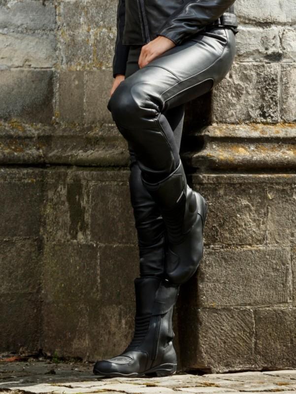 Pant Women Catwalk Black Leather Riding - Regular