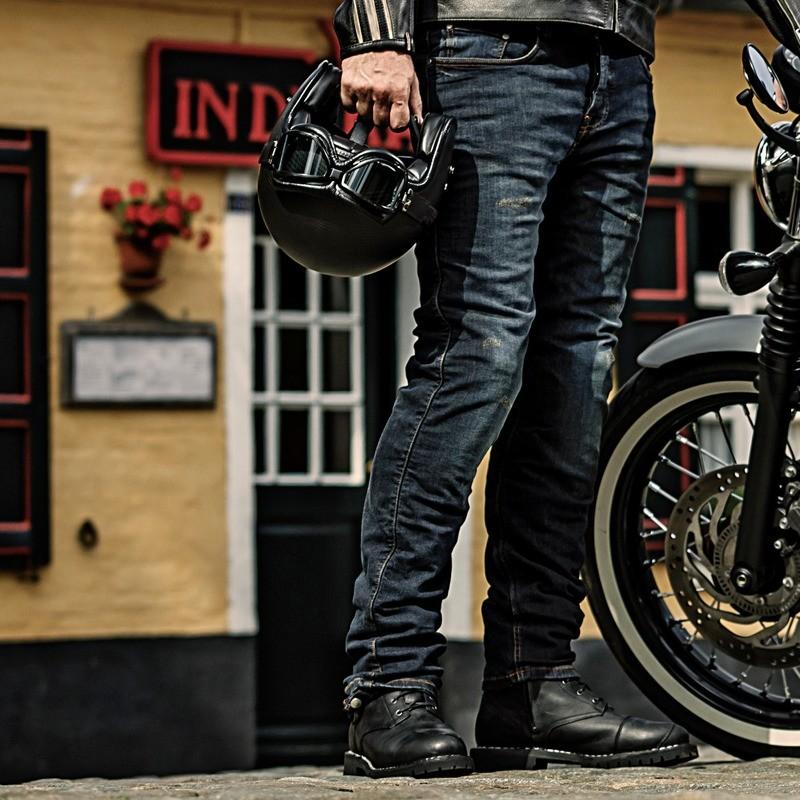 Project Dirt Wash Dark Grey Riding Jeans Men - Long
