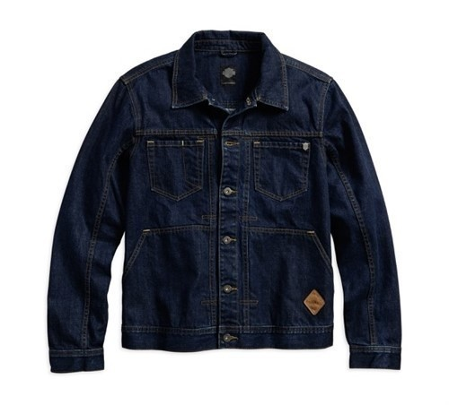 Black Label Raw Denim Trucker Jacket Men