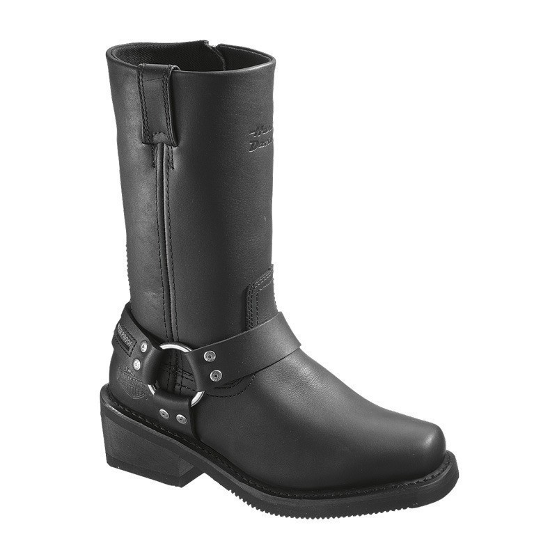 Boots Men Waterproof Zipper Hustin Black Leather