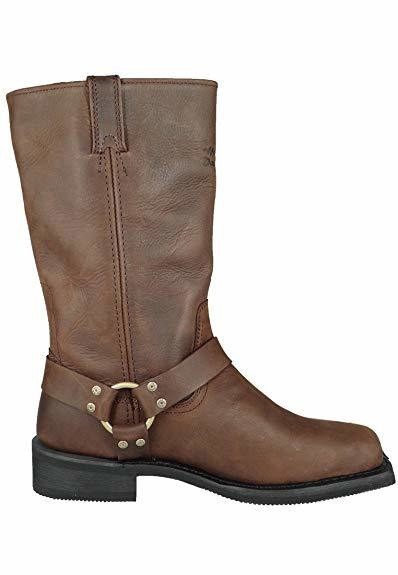 Boots Men Long Hustin Brown Leather