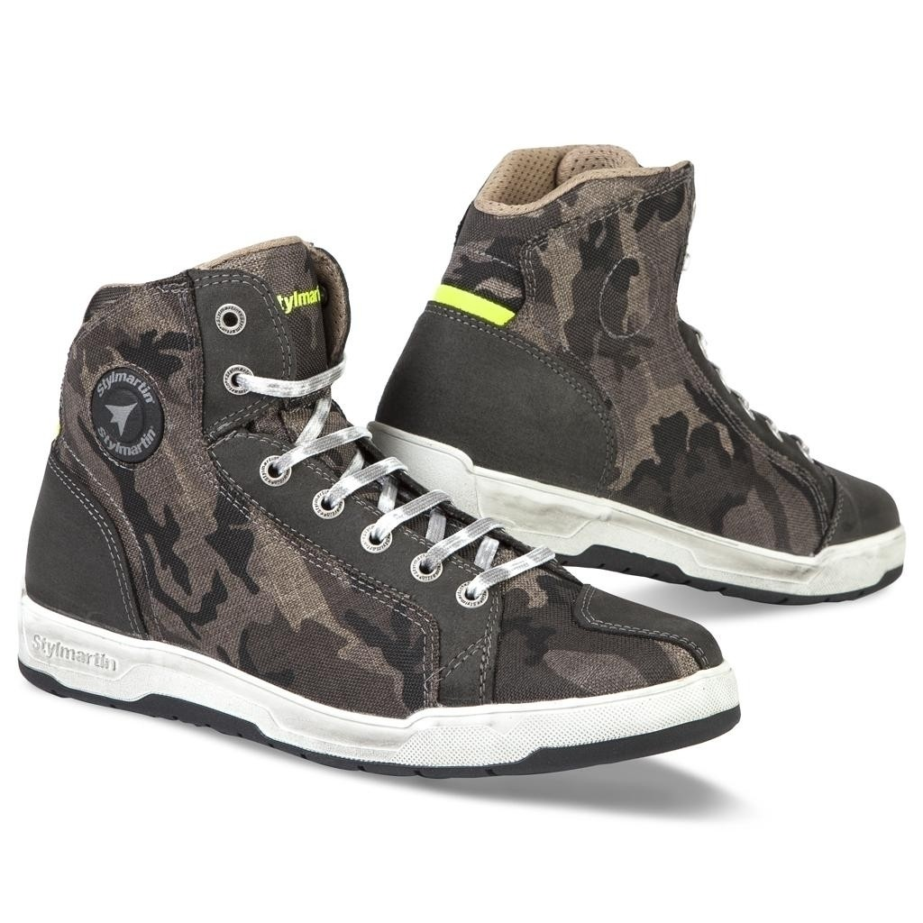 Riding Sneakers by Stylmartin Raptor Camouflage Motorcycle