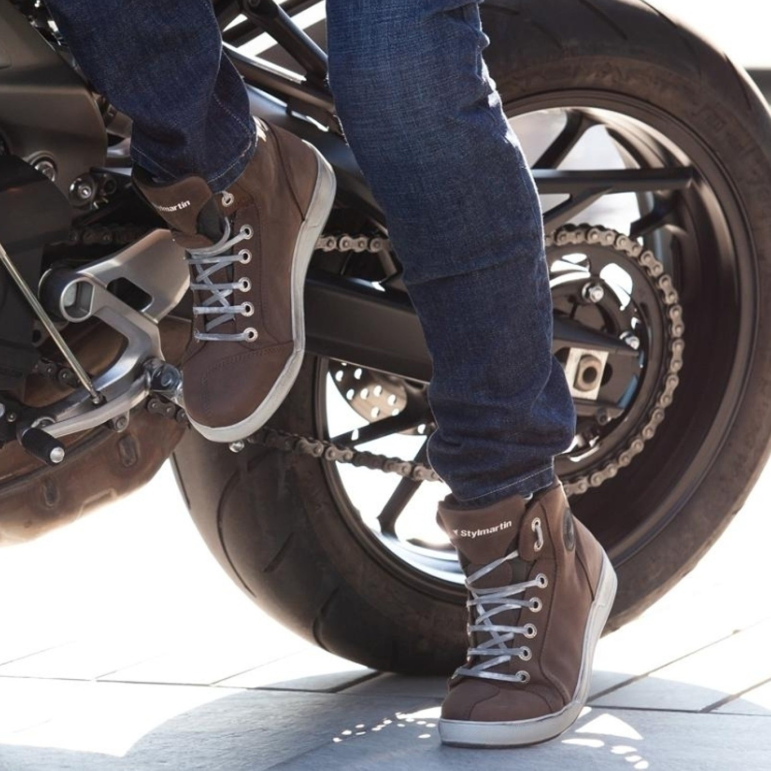 Marshall Taupe Motorcycle Sneakers by Stylmartin