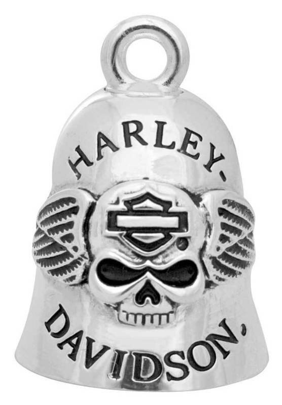 Harley-Davidson® Ride Bell Winged Skull B&S Outline