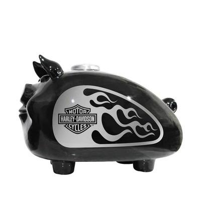 Gadget Hog Bank Silver Flames - Large