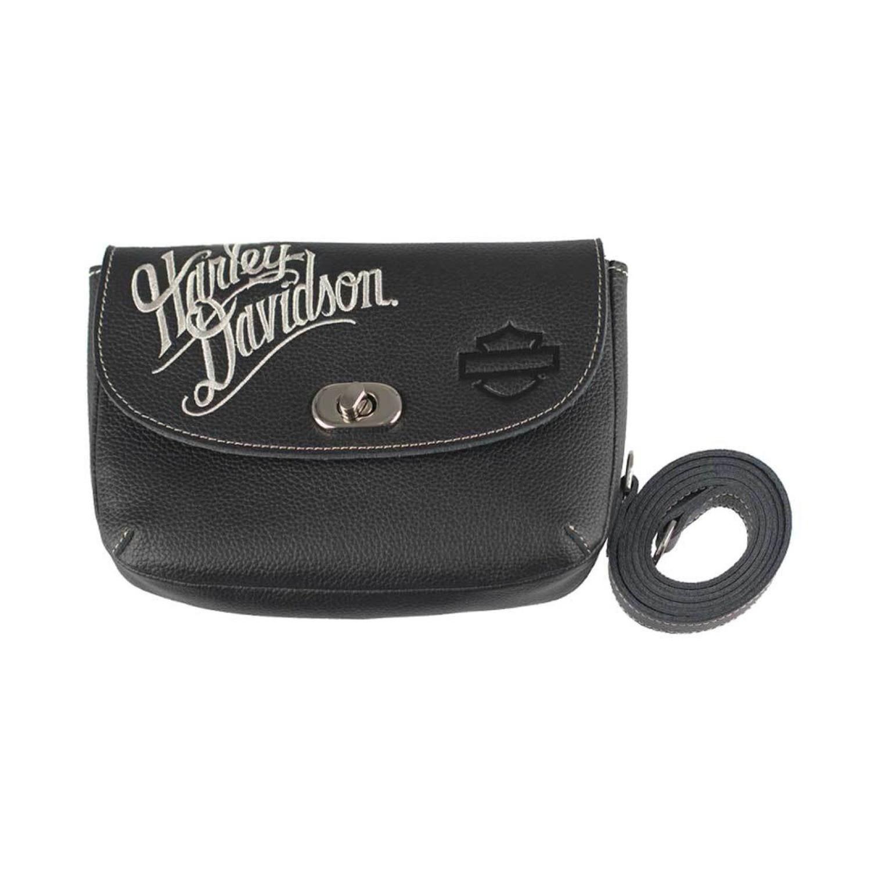 Embroidered H-D Script Clip Hip Bag Women