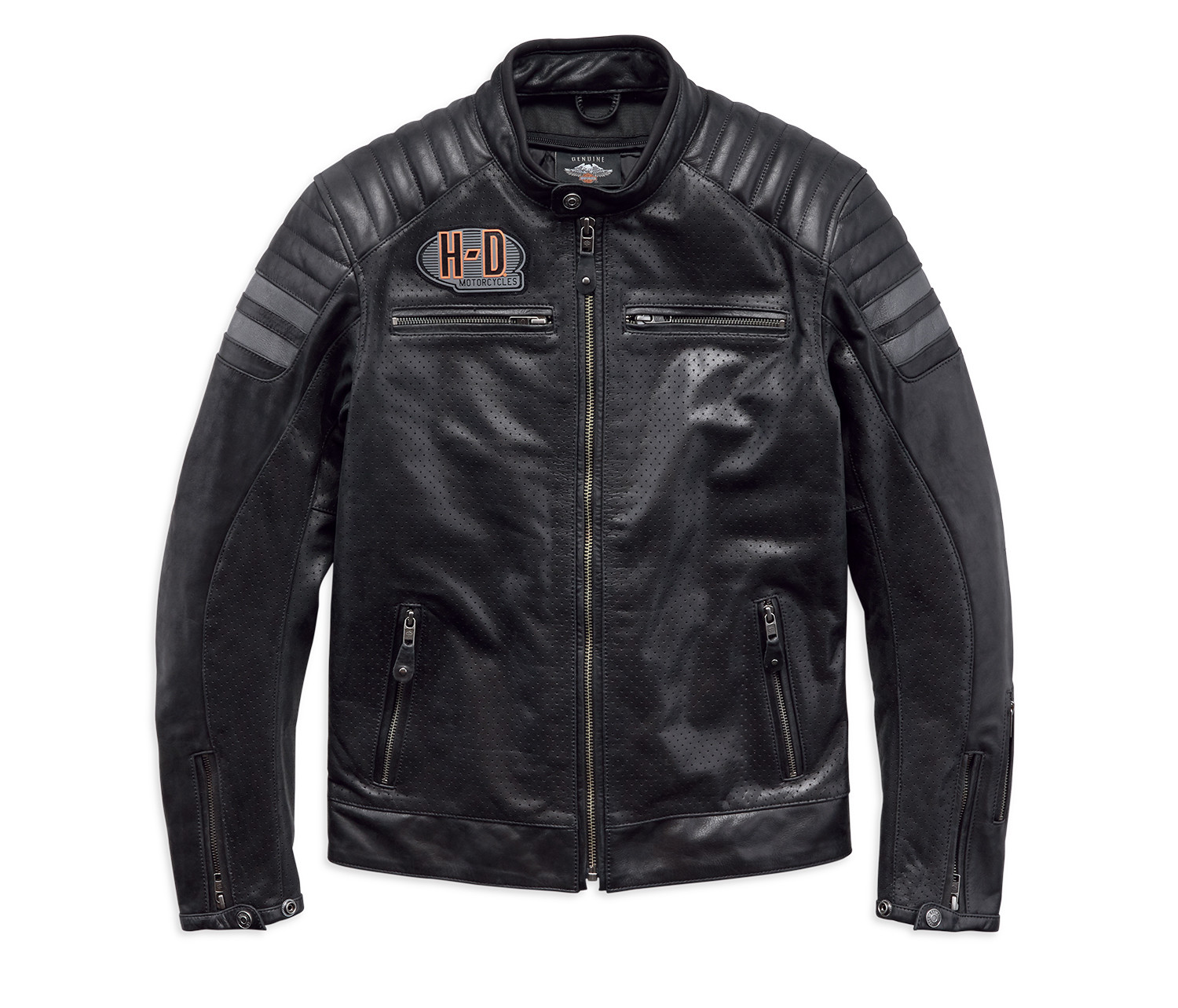 Jacket Men CE-approved Riding Leather Hutto Perforated