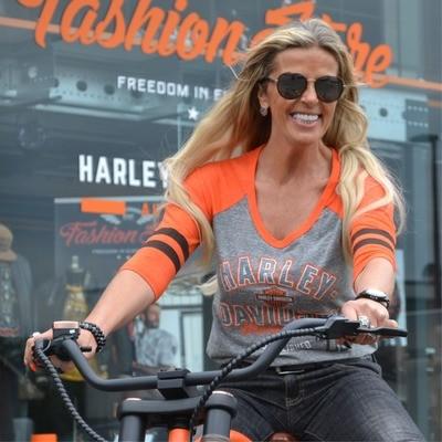 Dealer T-Shirt Women 3/4 Sleeve Team Harley