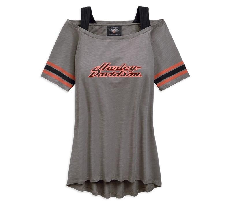 T-Shirt Women Short Sleeve Striped Sleeve