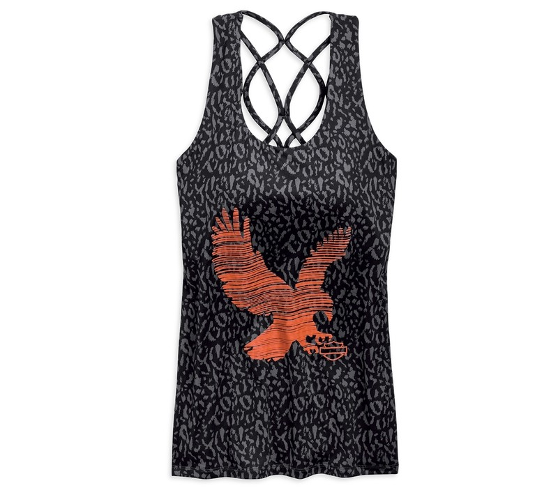 Strappy Eagle Tank Top with Shelf Bra Women