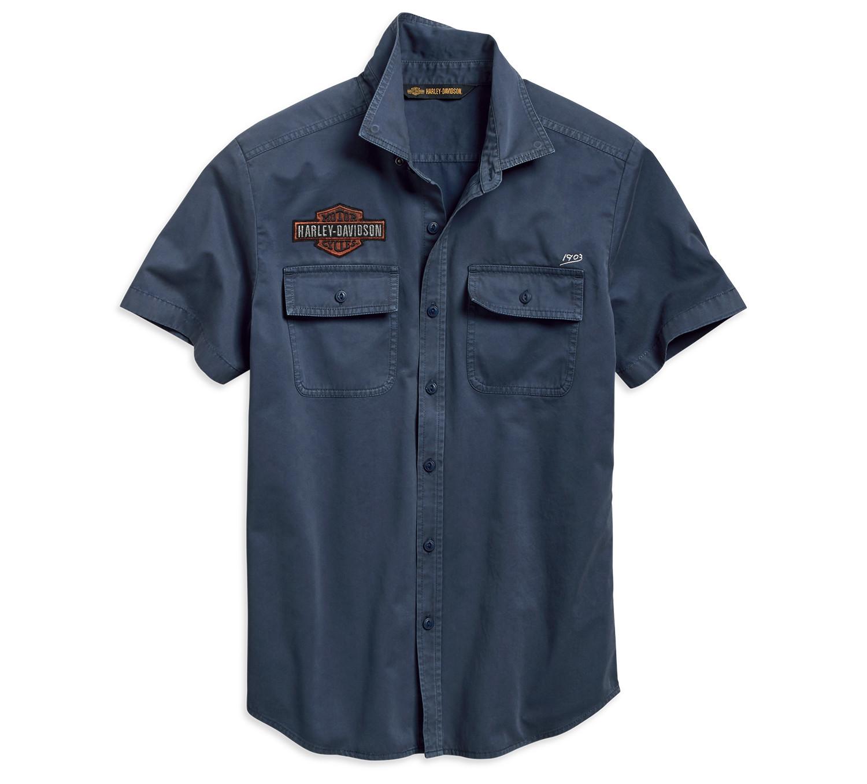 Shirt Men short sleeve 1903 Iron & Freedom Slim Fit