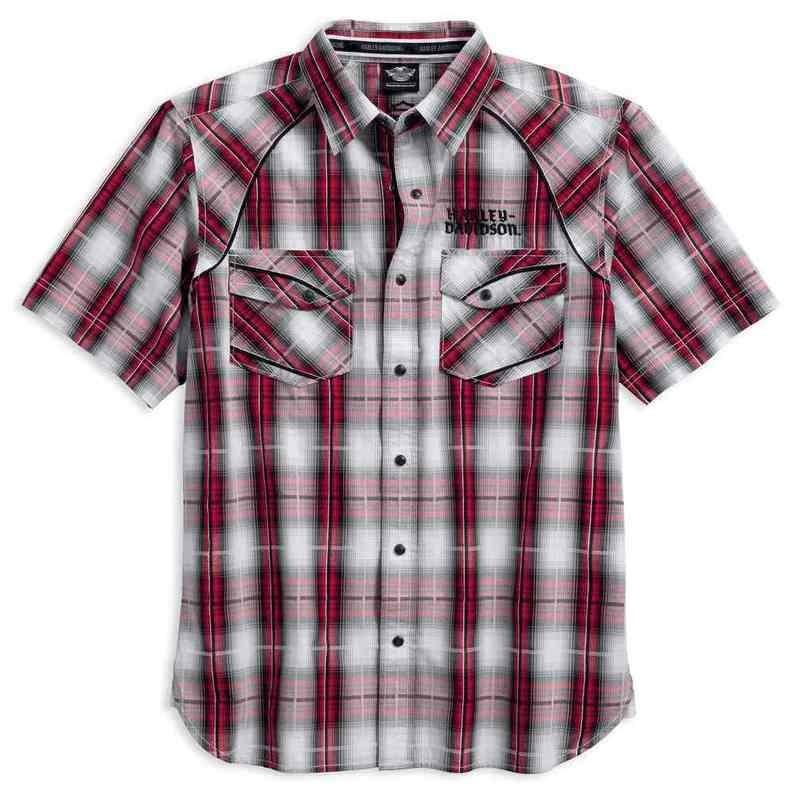 Modified Yoke Americana Plaid Shirt Men