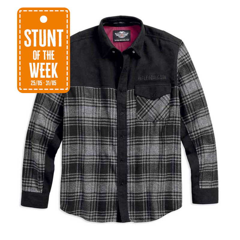 STUNT OF THE WEEK: Marled Contrasting Long Sleeve Plaid Shirt Men