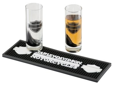 Gadget Silhouette Bar & Shield Shooter Set with Beverage Mat