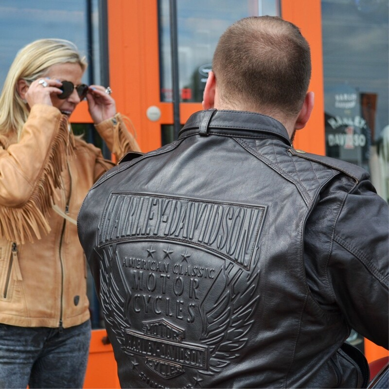 Jacket Men Leather Burnished Brown Riding