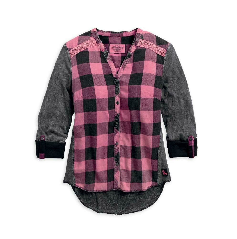 Pink Label Buffalo Plaid Shirt Women
