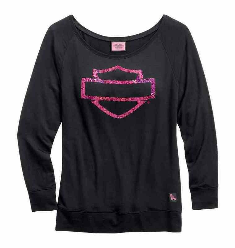 T-Shirt Women Long Sleeve Pink Label Bar & Shield
