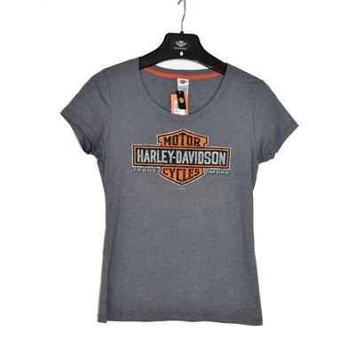 Dealer T-Shirt Women Short Sleeve Shine Dark Scoop