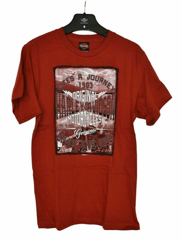 Dealer T-Shirt Men Short Sleeve Enjoy Red