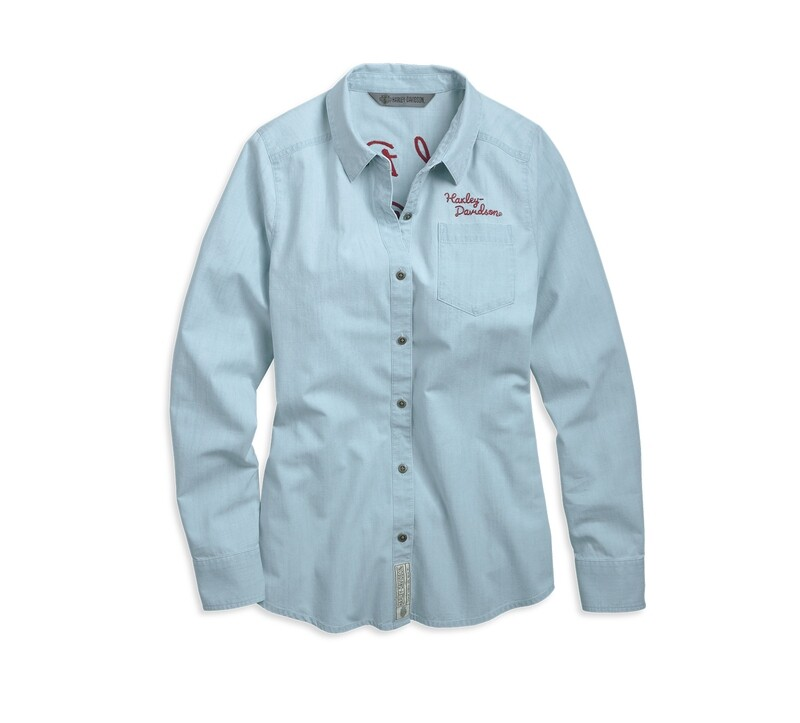 Garage Burn Rubber Chambray Shirt Women