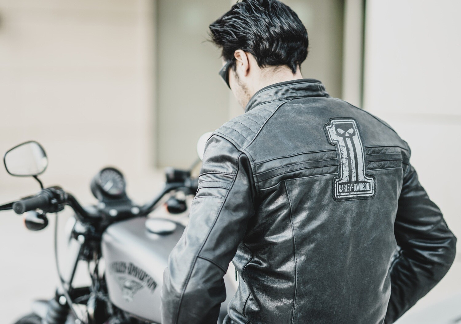 Jacket Men CE-Approved Riding Leather #1 Skull