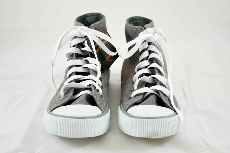 Flora Grey Canvas Sneakers Women