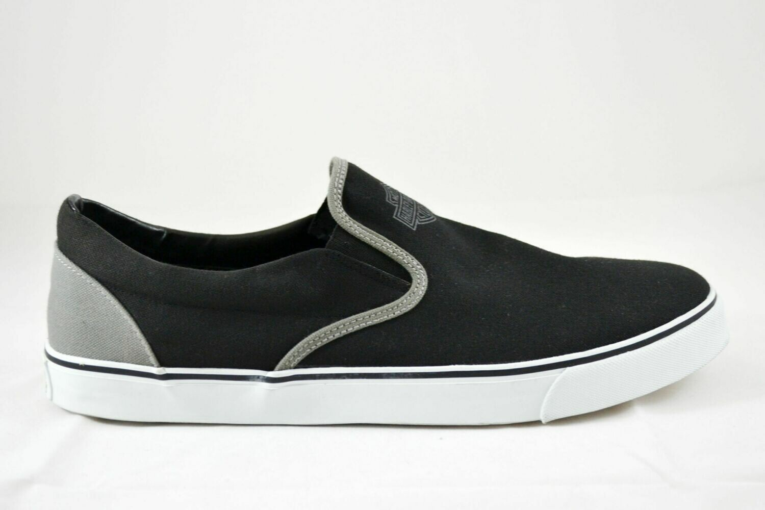 Marchmont Black and Grey Canvas Sneakers Men