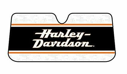 H-D Text Accordeon Sunshade for Car Windows