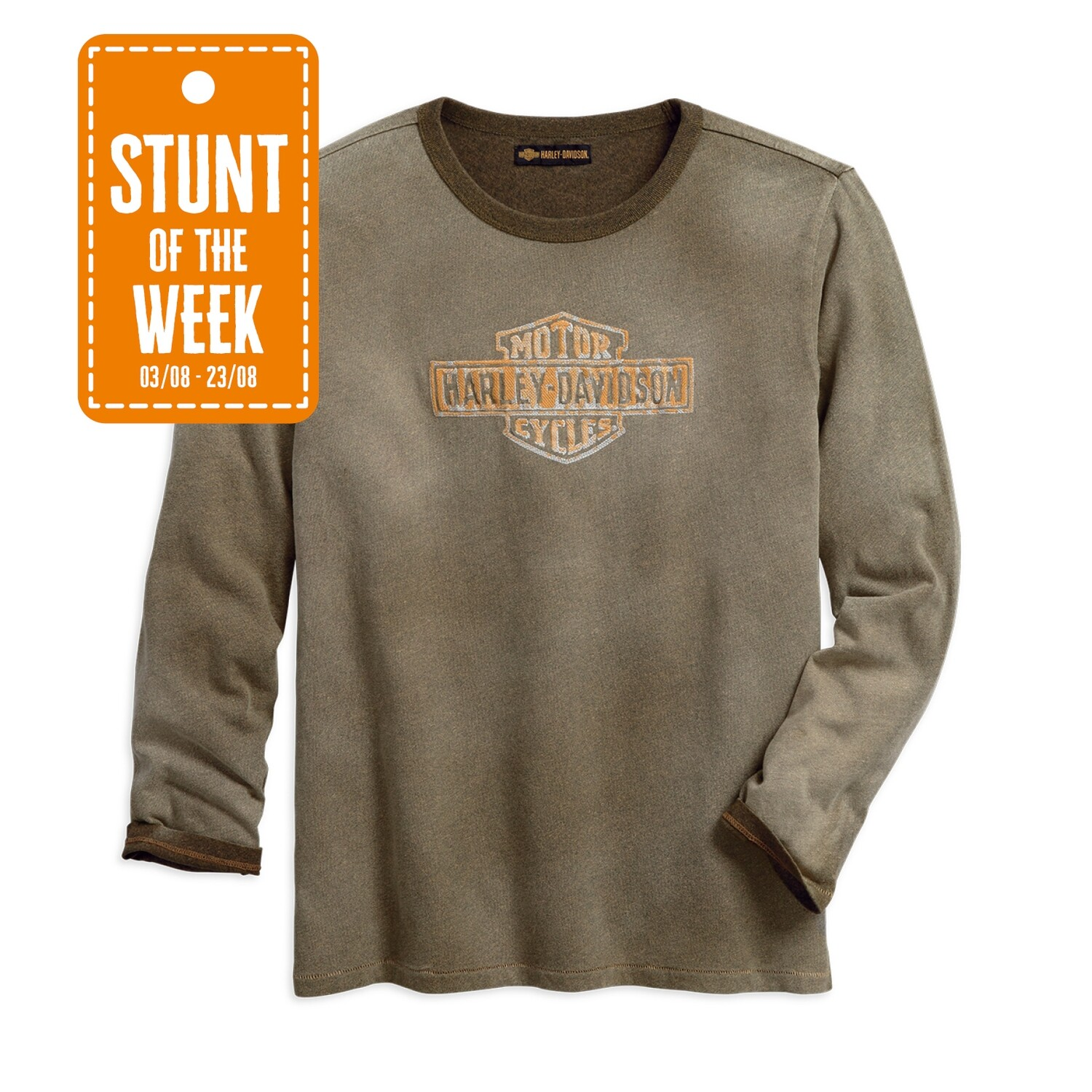 STUNT OF THE WEEK: 1903 Two-Colour Embroidered Tee Men