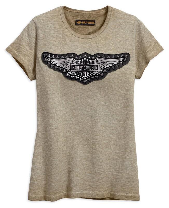 T-Shirt Women Short Sleeve Studded Wing