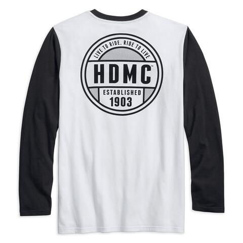 Men T-Shirt Long Sleeve Lightning Bolt Baseball
