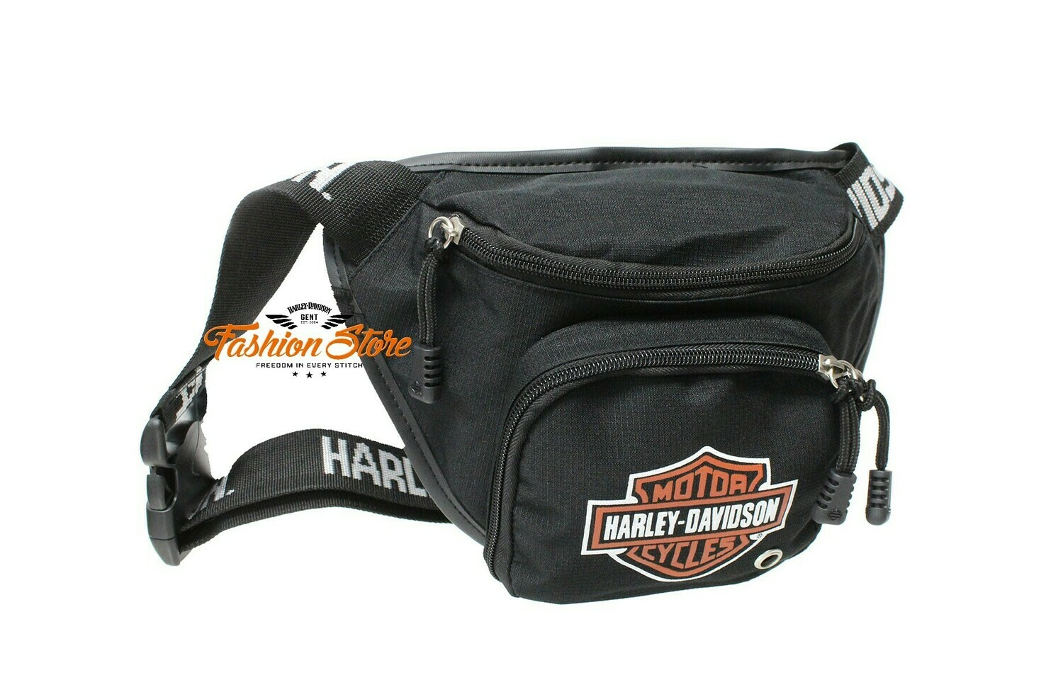 Bag Belt Harley-Davidson® B&S Logo Orange, Water-Resistant