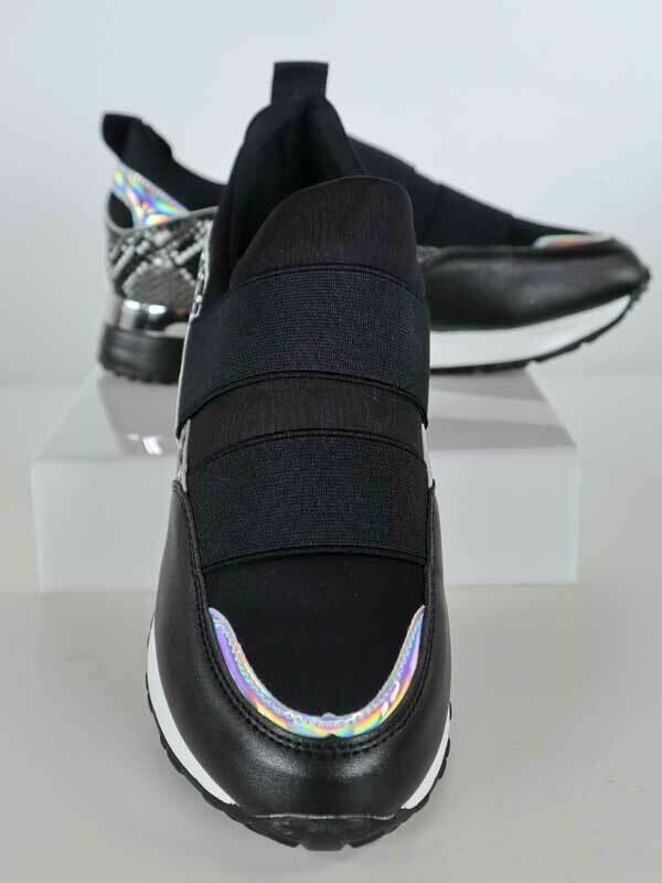 Sneakers Women Fashion Mylan Black Snake