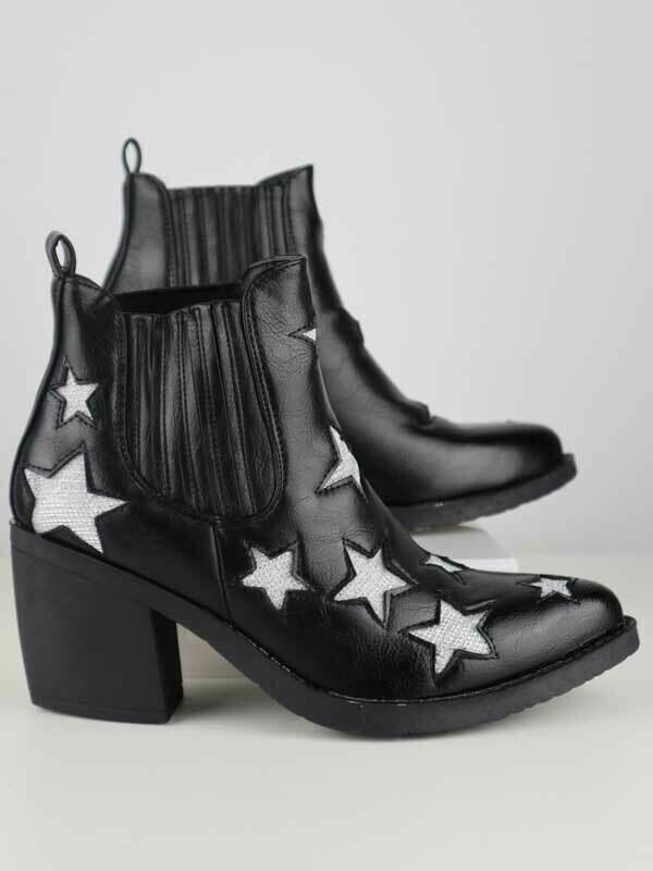 Boots Women Fashion Western Brooklyn Black