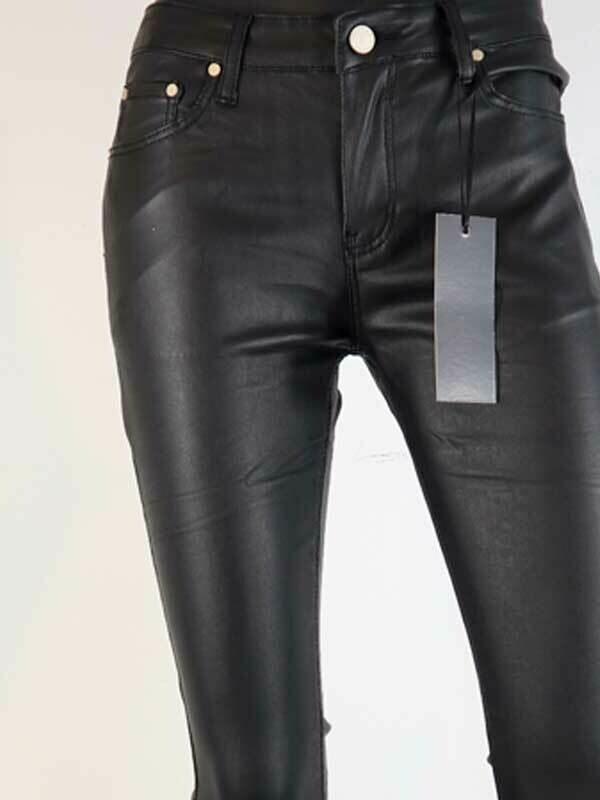 Jeans Women Fashion Coated Skinny Black