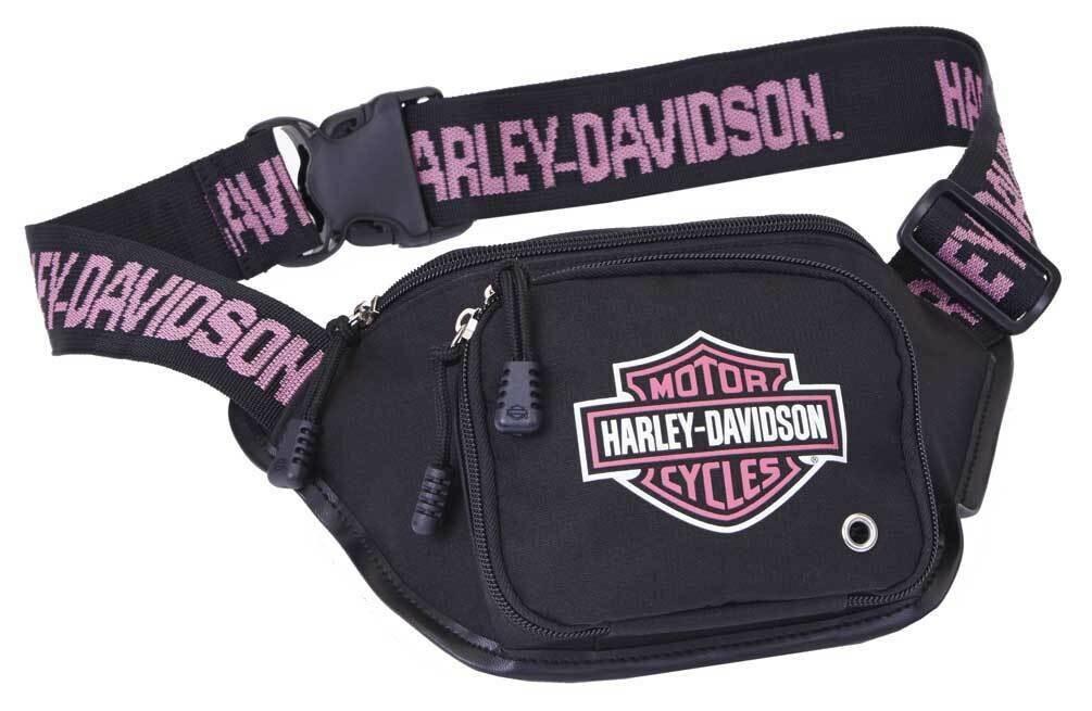 Bag Belt Harley-Davidson® B&S Logo Pink, Water-Resistant