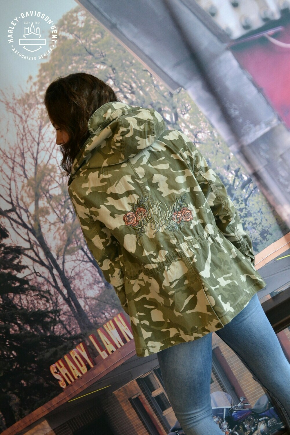 Jacket Women Canvas Camo & Rose
