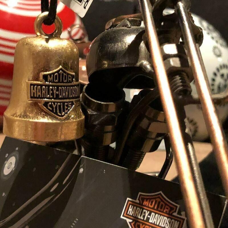 Harley-Davidson® Bar & Shield Logo Motorcycle Ride Bell, Gold Tone
