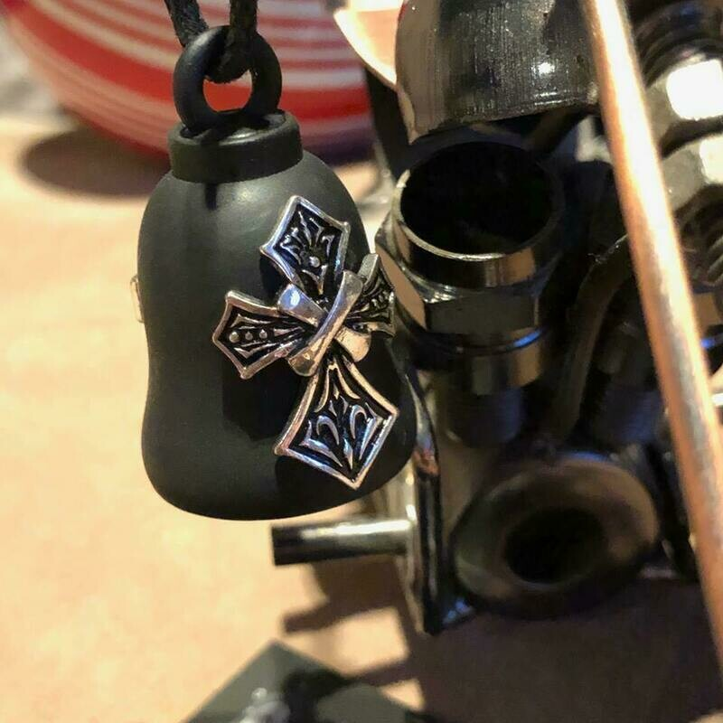 Harley-Davidson® Tribal Cross Ride Bell | Bar & Shield® | Matte Blac