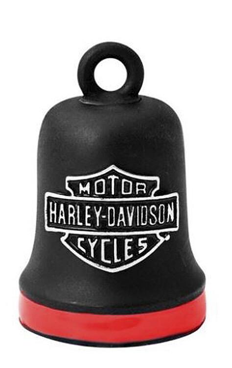 Harley-Davidson® B&S Ride Bell | Matte Black with Red Stripe