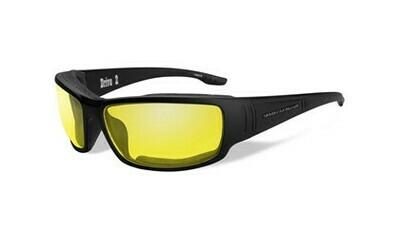 Wiley X HD Drive 2 Yellow Lenses / Matte Black Frame Biker Glasses